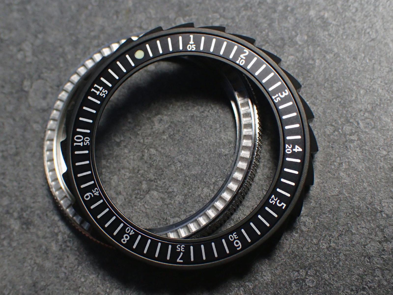 THE   SCANDI   MK 2 - BLACK - ALUMINIUM BEZEL INSERT FOR SEIKO SKX 007 /  VOSTOK Z-04-B